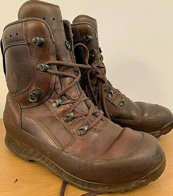 Mens HAIX Combat High Liability Boots British Army Brown Leather Size 9W UK