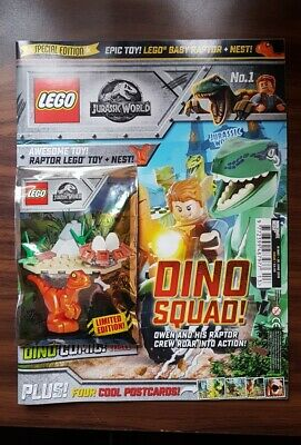 Lego Jurassic World Magazine - Issue 1 - First Issue with Raptor Toy- New/Sealed