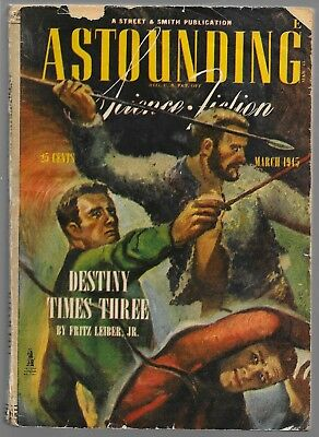 ASTOUNDING SCIENCE FICTION PULP march 1945 BLIND ALLEY ISAAC ASIMOV FRITZ LEIBER