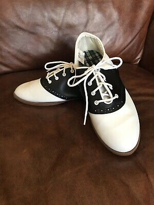 PREDICTIONS Saddle Shoes Oxfords, Black & White, 7.5