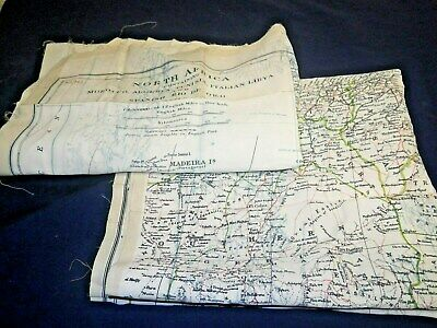Pair of WW2 Double Sided Silk Escape Maps (North Africa)