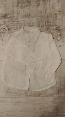 F&F Signature Baby Boys Smart White Shirt Occasion 9-12 Months 1 Year VGC!