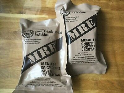 USArmy MRE Meal Ready to Eat Verpflegung EPA Outdoor Survival Camping VEGETARIAN