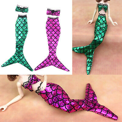 2Pcs/Set Handmade Dolls Party Dress For  Doll Mermaid Tail Dress Kids LY