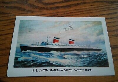 015 Official 1957 SS United States US Lines Post Card - World's Fastest Liner