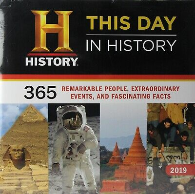 """Sealed 2019 This Day in History 12/"""" x 12/""""  Wall Calendar by Sourcebooks New"""