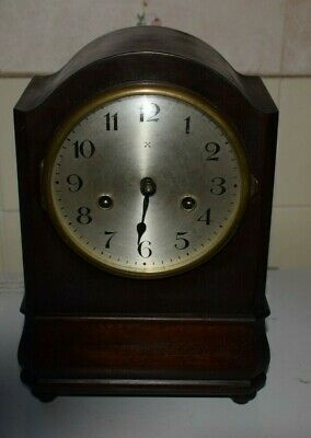 Antique Mantle Clock H.a.c.germany For Spares Or Repairs