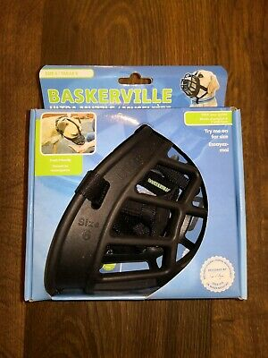 New Baskerville Ultra Adjustable Padded Dog Muzzle Plastic Basket – Size 6