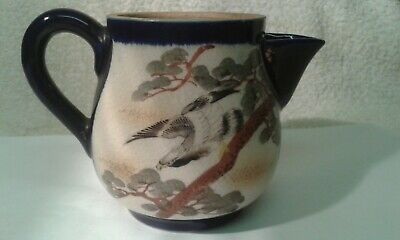 Vintage Early 20th. Century Decorated Japanese Ceramic Milk Jug - 9 cms. high.