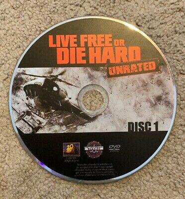 Die Hard 4: Live Free or Die Hard (DVD, 2007, Unrated) - Ships No Tracking