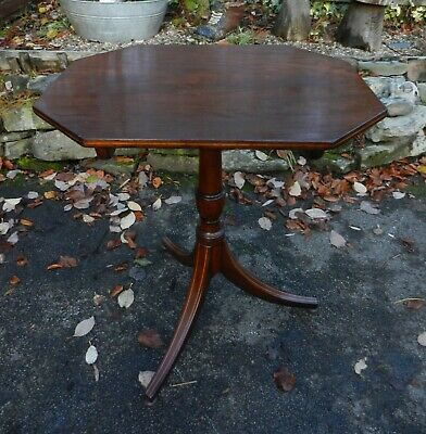 Late Georgian Regency Inlaid Mahogany Occasional Table - Good Condition