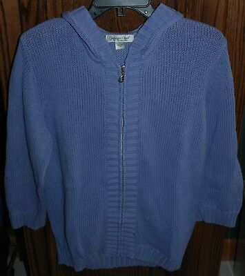 ecc6d4cfde0f LARGE NWT COLDWATER Creek Holiday Brights LS Zip Front Cardigan ...