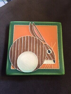 Beautiful New Motawi Tile Works Michigan Arts & Crafts Style Rabbit Tile Nice