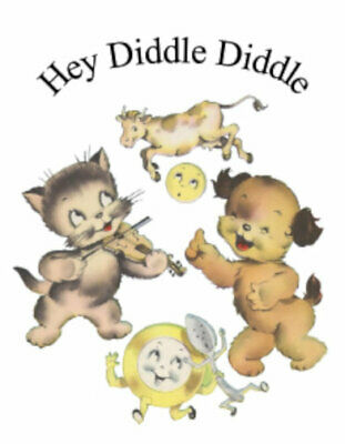 Vintage Image Nursery Rhyme Hey Diddle Diddle Transfers Waterslide Decals NUR006