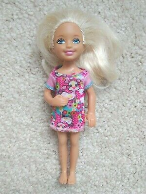 Barbie Doll Little Sister Chelsea Blonde Hair Curved Arm Nude
