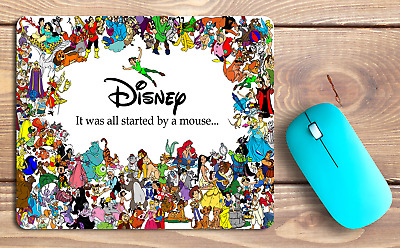 All Disney Characters Personalised Desktop Work Office PC Gaming Pad Mouse Mat