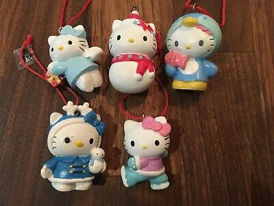 Sanrio Hello Kitty Christmas Ornaments Set Of 5