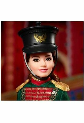 2018 Barbie Disney Nutcracker Clara's Soldier Uniform Barbie Doll #FVW36