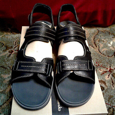 e2968a69a52 CLARKS BRIXBY COVE Men s Leather Athletic Sport Fisherman Sandals ...