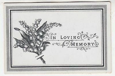 MEMORIAM CARD - Fanny Maria Young - aged 31 - May 31st 1903