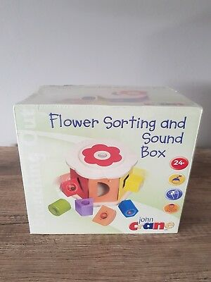 Brand new Unopened John Crane Flower Sorting And Sound Box Wooden Toy 24 months