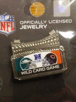 Philadelphia Eagles VS Chicago Bears NFL WILD CARD Game Day Pin January 6, 2019