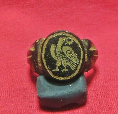 ROMAN  ANCIENT   BRONZE LEGIONARY RING ( Eagle ) Aquila.