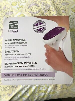 SILK N' FLASH & GO Permanent Hair Removal Device 5000 Pulses