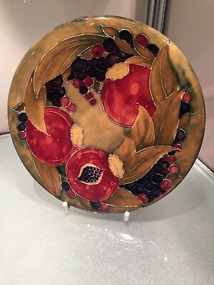Early William Moorcroft Pomegranate Plaque C. 1910