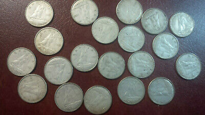 Canada silver 1968 circulated dimes  Lot of 20 coins