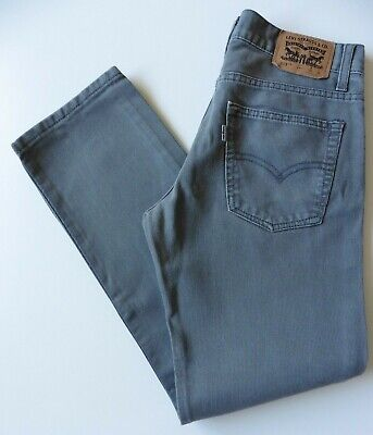Boys' Levis 513 Slim Straight Leg Cords Jeans W27 L27 Grey Levi Strauss