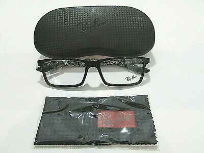 9fb9cd5ee4 Ray Ban RB8901 RB 8901 5843 Shiny Black Carbon Fibre Eyeglass Rx-Able Frame  55M