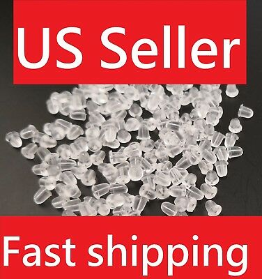 USA2000PC Heavy Duty Rubber Earring Backs Sleeves Holders Stoppers Nuts Silicon2