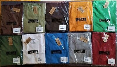 New DULUTH TRADING Men's Longtail T Shirt Short Sleeve With Pocket SM XL