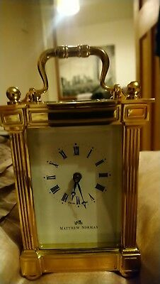 Matthew Norman of London Swiss Made Carriage Clock