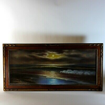 Luminous Pastel Seascape Painting, early 20th Century
