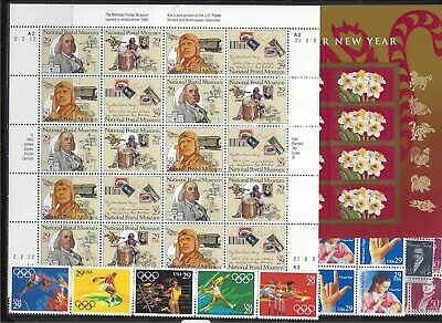 $100 Face value US postage stamps all MNH