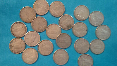 Canada circulated silver dimes,  Lot of 20 coins
