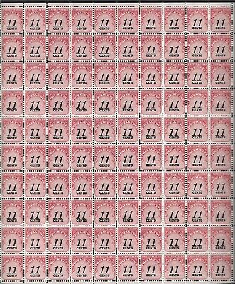 J102 11 cents postage due MNH sheet of 100.
