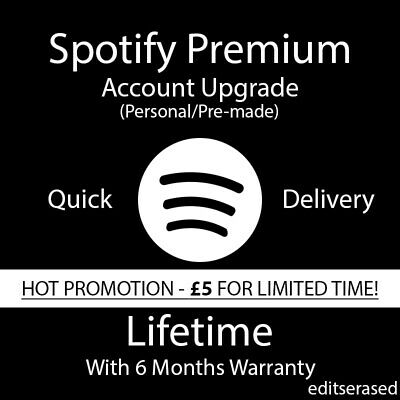 Spotify Premium | Lifetime | GLOBAL | Personal Upgrade | HOT PROMOTION