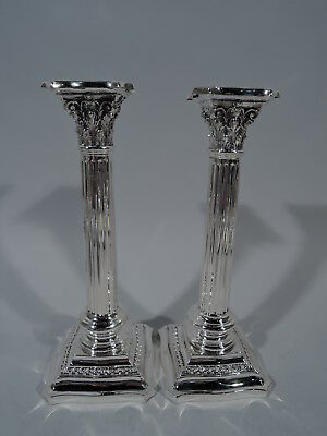 Wallace Candlesticks - 488 - Antique Classical Pair  American Sterling Silver