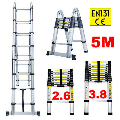 3.2m-5m Portable Heavy Duty Multi-Purpose Aluminium Telescopic Ladder Stabilizer