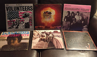 Lot of 6 60's LPs Jefferson Airplane (3) Bob Dylan & The Band The Byrds Donovan