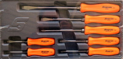 New Snap On 7 Piece Orange Hard Handle Screwdriver Set SDDX70AO