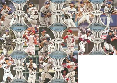 2019 Topps Series 1 Greatness Returns Inserts ***you Pick***