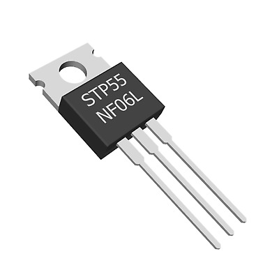 4 x STP55NF06L  STMicroelectronics 60V 55A N Channel Logic Level MOSFET TO-220