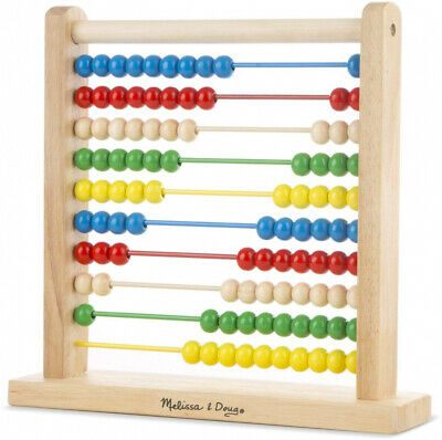 Melissa and Doug Abacus - Classic Wooden Educational Counting Toy with 100 Beads