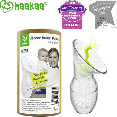Haakaa Silicone Breastfeeding Breast Pump and Flower Stopper 90ml Gift Box