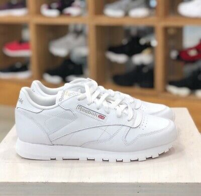 Sneakers Womens White Authentic Leather Shoes 2232 Reebok Classic 34AcR5SjLq