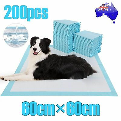 200pcs Dog Pads Puppy Cat Pet Indoor Toilet Training Pad Super Absorbent 60x60cm